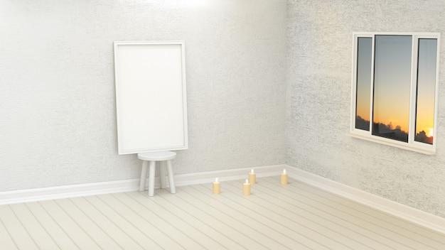 Eenvoudig kader met een lege muur