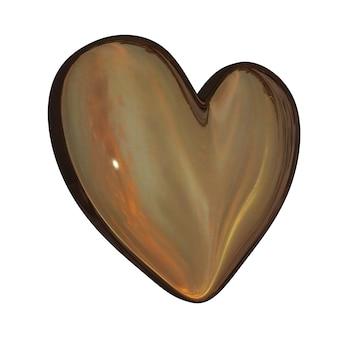 Eenvoudig metalen hart pictogram geïsoleerd op een witte achtergrond