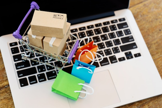 Eenvoudig online winkelen concept