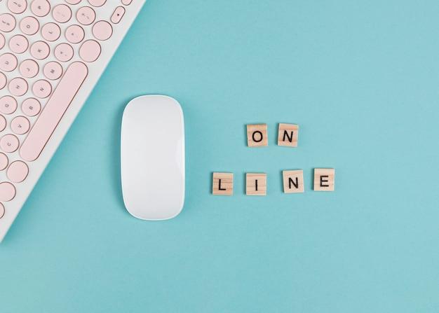 Eenvoudig ontwerp letters en muis mock up