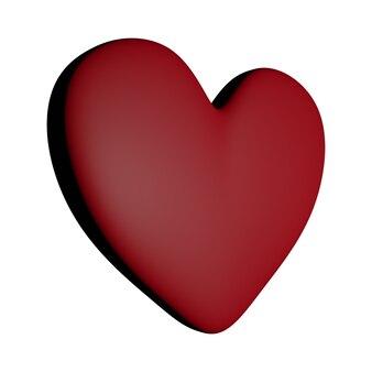 Eenvoudig rood hart pictogram geïsoleerd op een witte achtergrond