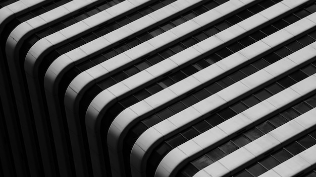 Eenvoudige architectuur van modern de bouwpatroon - zwart en wit