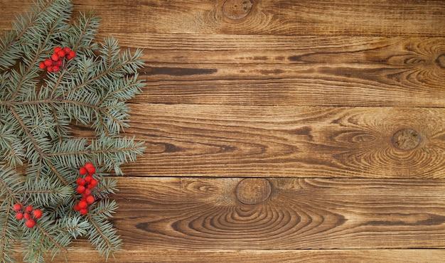 Eenvoudige houten achtergrond voor kerstversiering