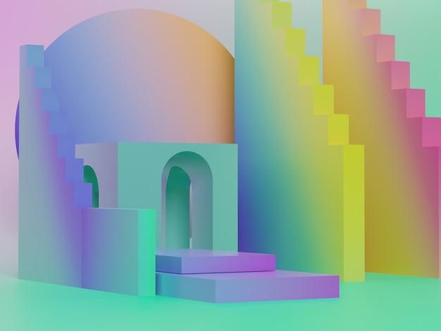 Eenvoudige neon geometrie vorm.