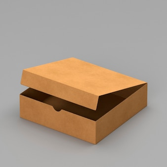 Eenvoudige open kartonnen doos