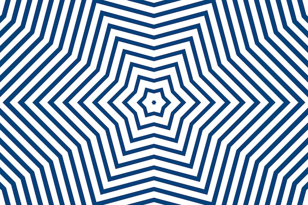 Eenvoudige rechte blauwe lijnstrepen van verschillende ontwerpvormen op een witte achtergrond. geometrische strepen, caleidoscoop