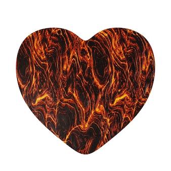 Eenvoudige rode koeling lava hart pictogram geïsoleerd op een witte achtergrond
