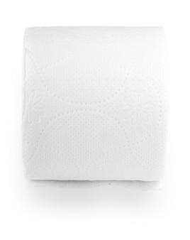 Eenvoudige rol wc-papier op de witte