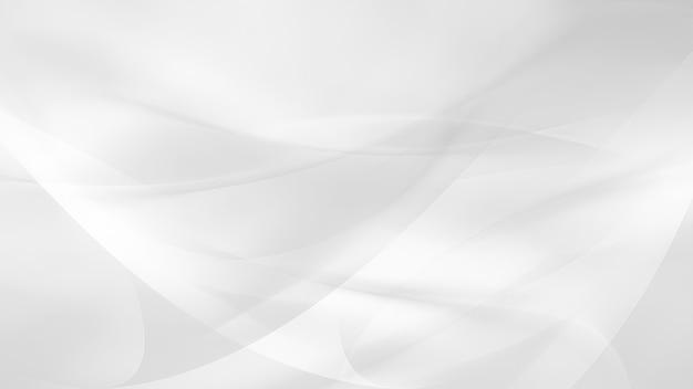 Eenvoudige witte achtergrond met vloeiende lijnen in lichte kleuren