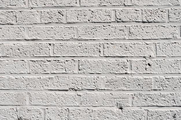 Eenvoudige witte bakstenen muurachtergrond