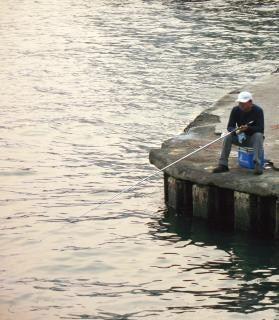 Eenzame visserij