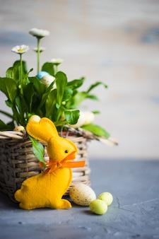 Eerste lente bloemen in een pot
