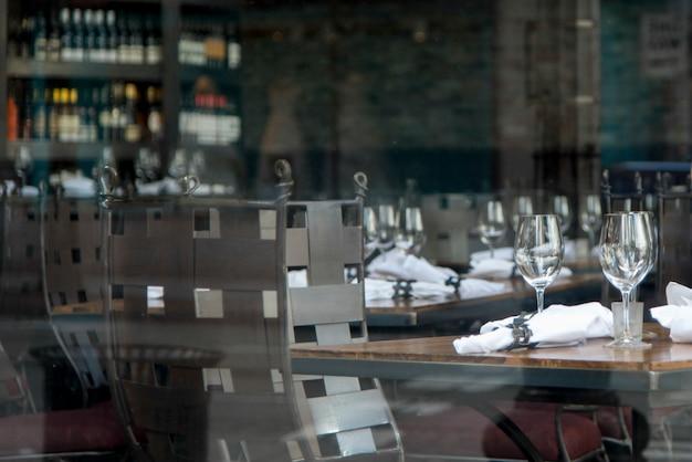 Eetkamer die in een restaurant, seattle, de staat van washington, de vs plaatst