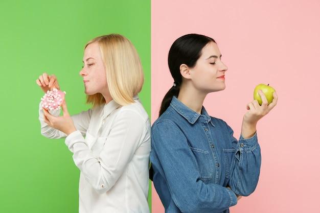 Eetpatroon. dieet concept. gezond eten.