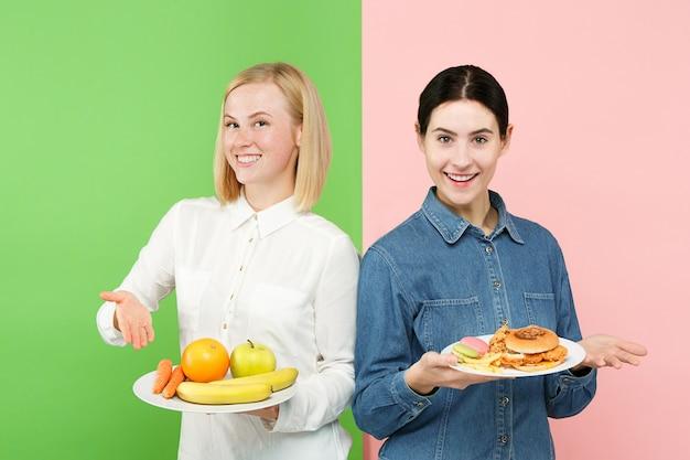 Eetpatroon. dieet concept. gezond nuttig voedsel.