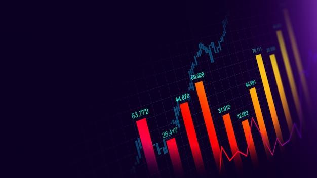 Effectenbeurs of forex trading grafiek in grafisch concept