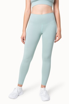 Effen blauwe yoga broek sportkleding kleding