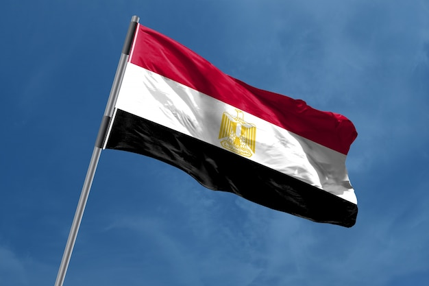 Egypte vlag zwaaien