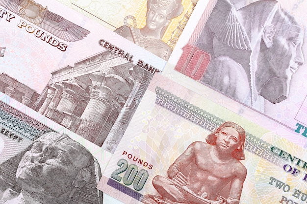 Egyptian pounds, een zakelijke achtergrond