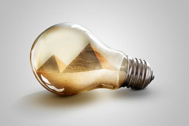 Egyptische piramide. rasp de piramides van giza