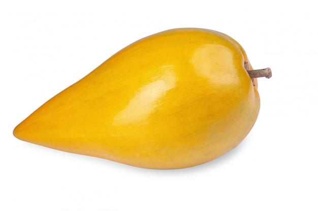 Ei fruit, canistel, gele sapote geïsoleerd op een witte achtergrond
