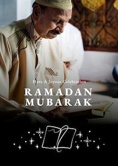 Eid mubarak poster met groet