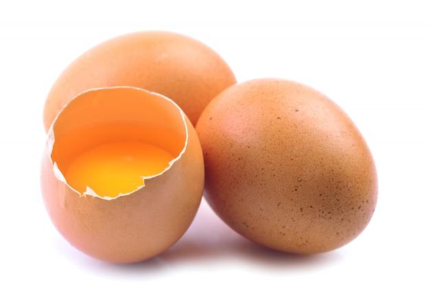 Eieren geïsoleerd