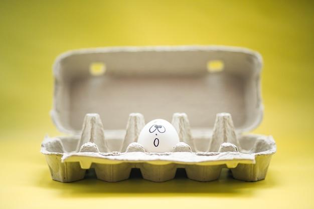 Eieren in doos