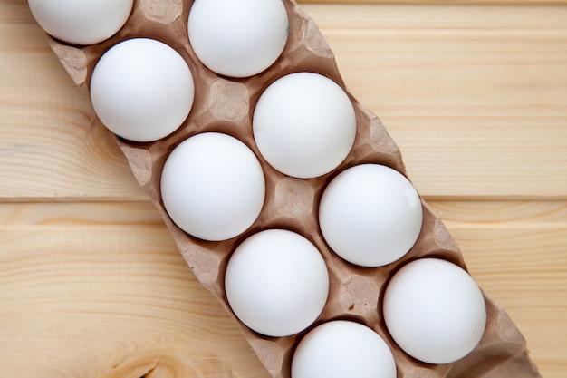 Eieren rijen patroon vak voedsel