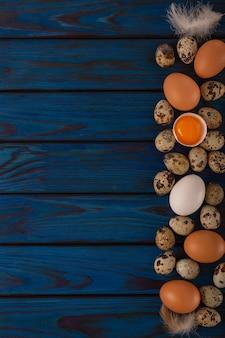 Eieren zijn een bron van vitamines en eiwitten in voedingsvoeding
