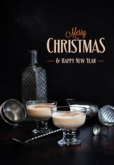 Eierpunch traditionele kerstdrank