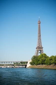 Eiffeltoren en de rivier de seine