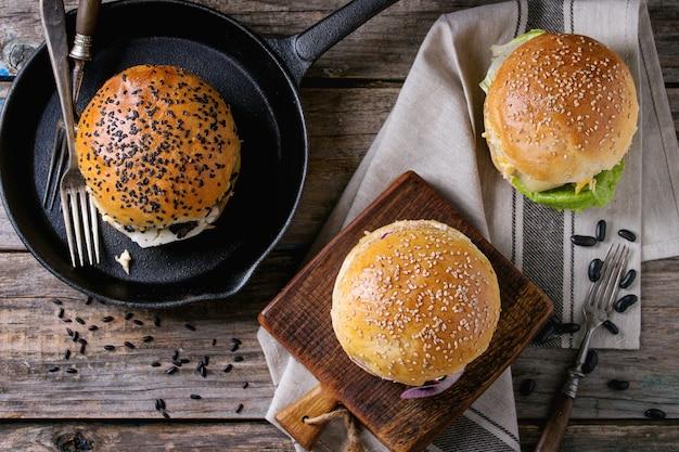 Eigengemaakte veggie hamburger