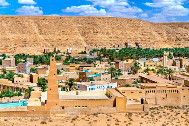 El atteuf, een oude berberstad in de m'zab-vallei in algerije