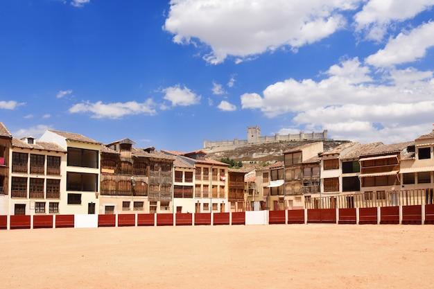 El coso-plein van penafiel, provincie valladolid, castilla-leon, spanje