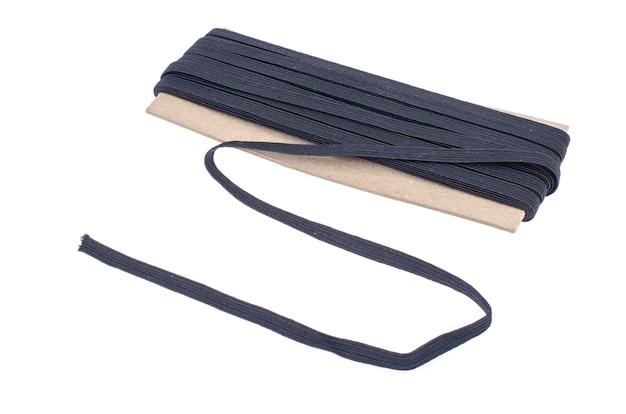 Elastische zwarte elastische band voor naaien en handwerken.