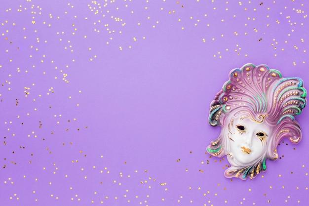 Elegant carnaval masker met glitter