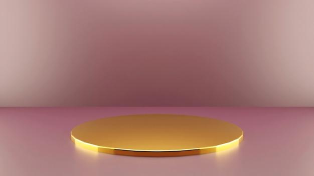 Elegant gouden podium voor productpresentatie