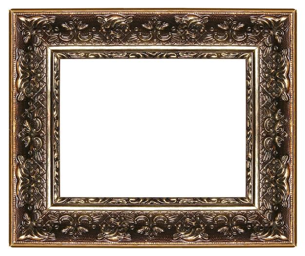 Elegant leeg frame met gesneden randen op wit wordt geïsoleerd