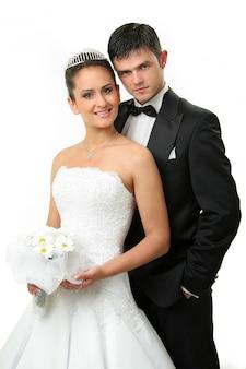 Elegant pas getrouwd stel