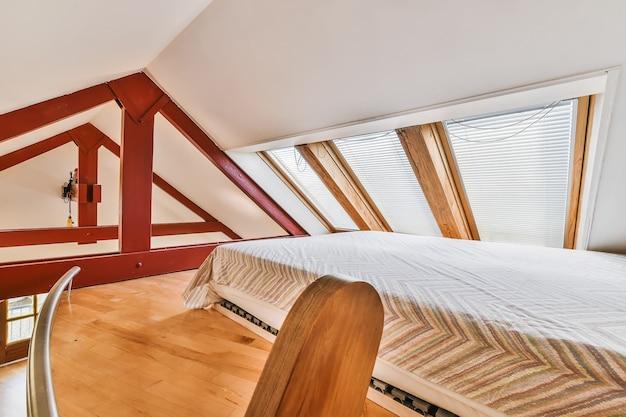 Elegant slaapkamerbinnenland van elitehuis in stijlvol design