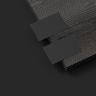 Elegant visitekaartjesmodel op donkere 3s-illustratie als achtergrond