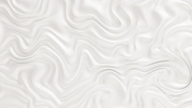 Elegant wit met golvende stoffen golven.