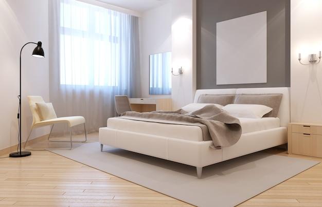 Elegante avangard slaapkamer interieur