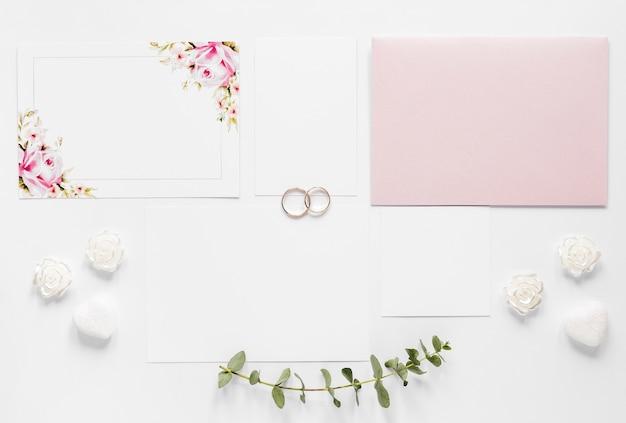 Elegante bruiloft uitnodiging