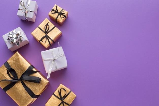 Elegante geschenken met kopie ruimte