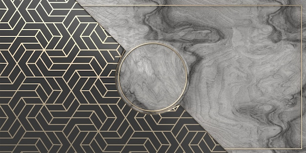 Elegante grijze marmer en goud gestructureerde achtergrond