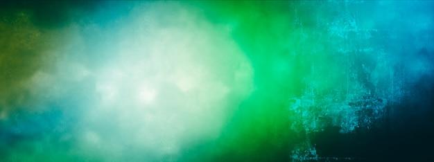 Elegante kleurovergang aquarel techniek in blauwe en groene kleuren achtergrond