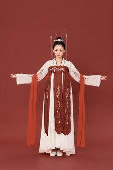 Elegante oude charme hanfu chinese stijl schoonheid