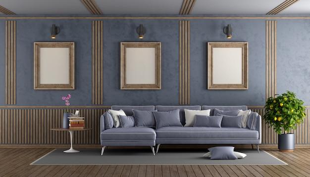 Elegante paarse woonkamer